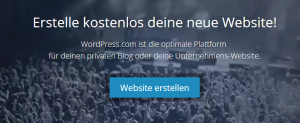 WordPress.com - Blog Plattform Startseite