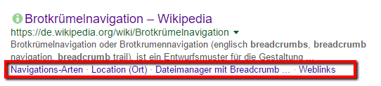 Yoast SEO Anleitung - Breadcrumb - Google Snippet