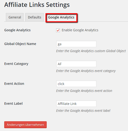 Event Tracking für Affiliate Links in Google Analytics aktivieren