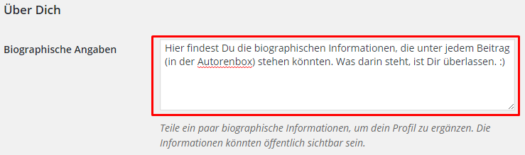 Autorenbox in WordPress individualisieren