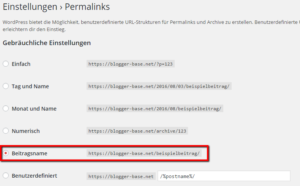 Permalinks in WordPress aktivieren